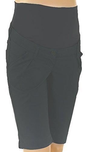Christoff Capri-Hose Schwangerschaftsjeans Umstandshose Jeans Rügen - skinny slim - elastisches Bauchband - 836-89 - charcoal-gray - Gr. 34 (Capris Denim Skinny)