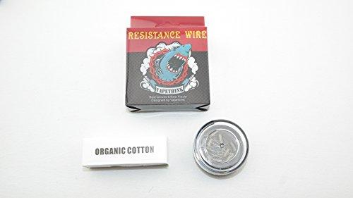 Vape Think Prebuilt Coil Kanthal Wrapped 26 GAA1 0.8 Ohm - 10 Stück fertige Ersatz Wicklung für Selbstwickler Atomizer mit OCC Watte