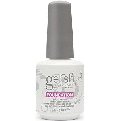 Harmony Gelish Soak Off Gel Polish - Foundation Base Gel 15ml (Gelish Uv Soak Polish Off)