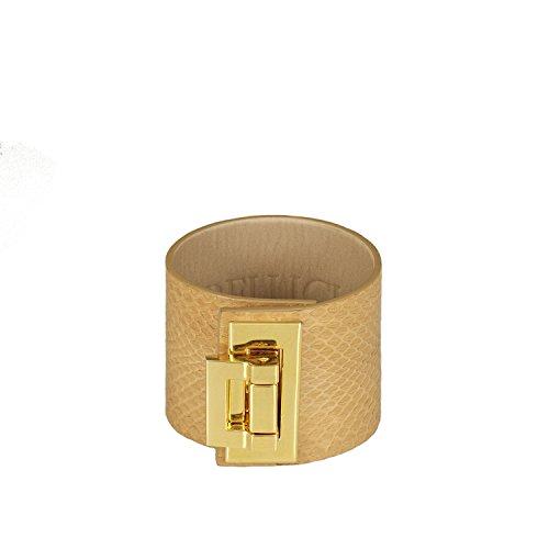 BELUCIA Sale Zaire Damen Armband ECHTES SCHLANGEN Leder MATT Camel UVP EUR 229 (Designer-schuhe Schlange)