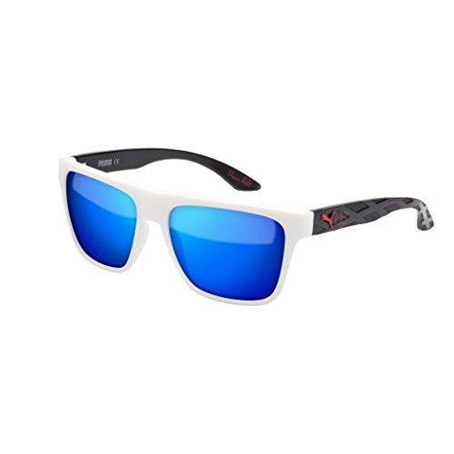 Sunglasses Puma PU0008S-006 WHITE / BLUE / BLACK