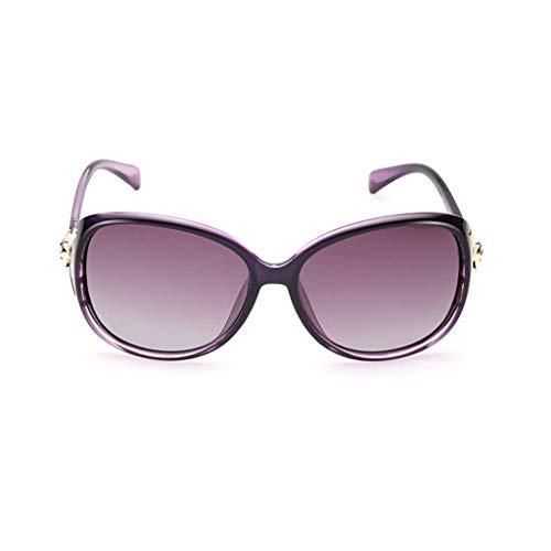 Leluo Damenmode Polarisierte Sonnenbrillen Trendy Gradual Polarized Glasses Sonnenbrille mit großem Gestell