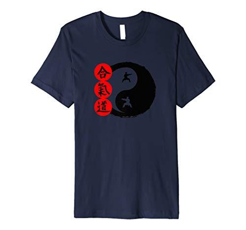 Yin Yang Symbol Japanisch Aikido Schrift Kampfsport Shirt