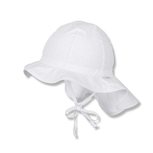 Sterntaler Baby - Mädchen Mütze Flapper 1511620, Weiß (Weiss 500), 47 (Baby-mädchen-mütze)