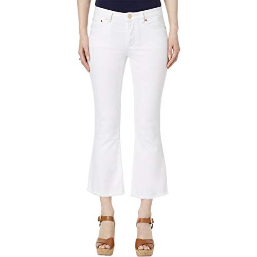 Michael Michael Kors Womens Denim Cropped Flare Jeans -