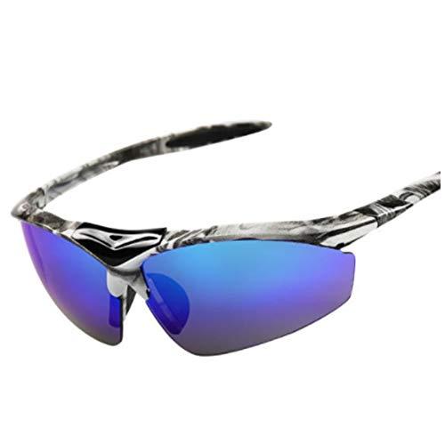 JenNiFer Unisex Semi Rimless Oval Polarized Sport Sun Glassess Brillen Brillen Windproof Antisand Anti Uv - 3