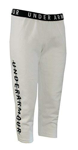 Under Armour Women's Fleece Capri Pants (White, M) -