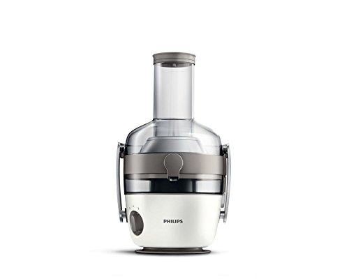 Philips hr1915/80 centrifuga per succhi di frutta e verdura, tecnologia fiberboost, quickclean plus per pulizia facile, 900 watt, collezione avance