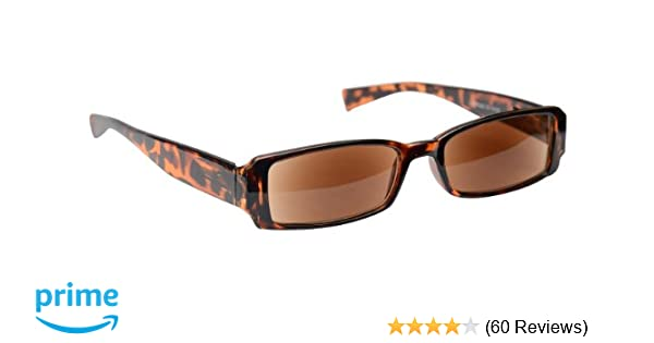 aa261120fb3b Sun Readers Reading Glasses Sunglasses Womens Mens Unisex UV400 Protection  Brown Tortoiseshell UV Reader UVSR003 Inc Case Strength +1.00  Amazon.co.uk   ...