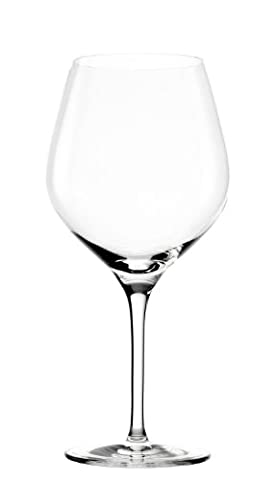 Stölzle Lausitz Exquisit Series Burgundy red wine glasses, 650ml, 6-piece set, dishwasher-safe: high-quality red wine goblets made from fine glass, noble yet unpretentious