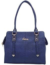 ESBEDA Dark Blue Color Solid Pu Synthetic Fabric Handbag For Women