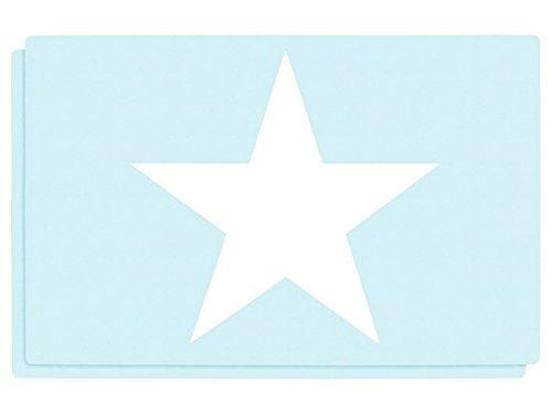 2 PZ di tovagliette americane motivi stella bianca, set da tavola in polipropilene di alta qualità, Misure 44 x 28,5 cm, per decorazione festa a tema, 145068 stella