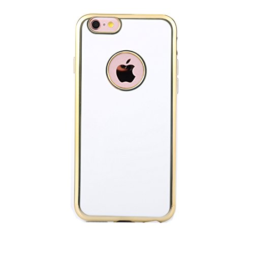 IPhone 6 & 6s Fall Galvanisieren Gold Edge Soft TPU Schutzhülle für iPhone 6 & 6s by diebelleu ( Color : Rose gold ) White