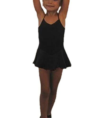 �dchen Sling Backless Dancer Trikot Kleid Unregelmäßige Gymnastik Kleider Balletttanz Kostüm ()