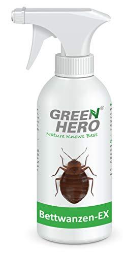 Green Hero Bettwanzen-Ex Spray zur Bettwanzenbekämpfung, 500 ml, Fernhaltemittel gegen Bettwanzen und Milben, Abwehrspray, Vertreibungsmittel -