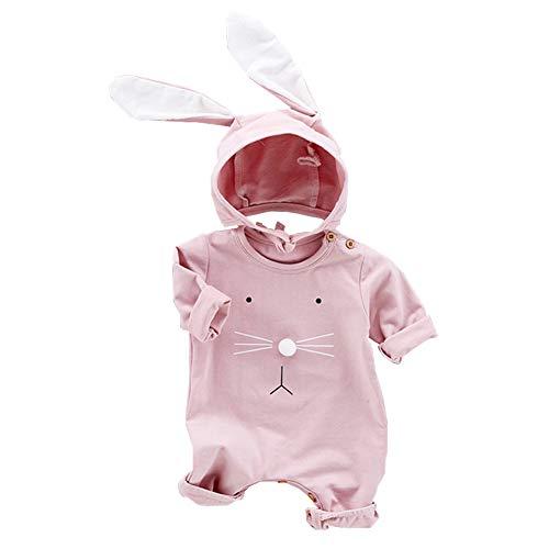 (Fairy Baby Säugling Hase Ostern Kleidung Kleine Baby Junge Baumwollspielanzug+Kaninchenohr Hut Size 90(18-24 Monate) (Rosa))