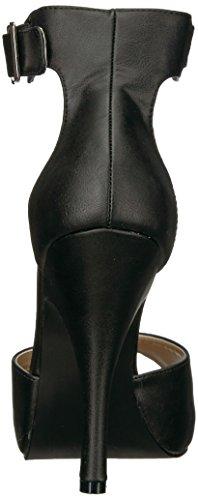 Pleaser Damen Eve-02 Plateau Schwarz (Blk Faux Leather)