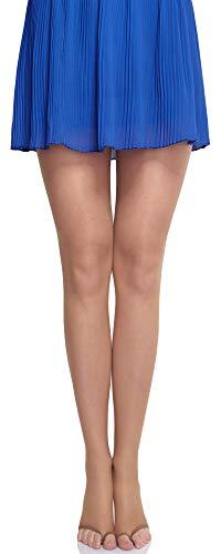 Merry Style Damen transparent zehenlose Strumpfhose Lycra MS 336 10 DEN(Sable, XS (28-32)) -