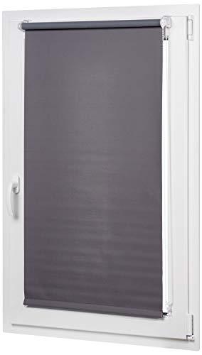 AmazonBasics - Estor opaco y enrollable, con revestimiento de color a juego, 56 x 150 cm, Gris oscuro