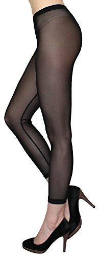 Transparente Leggings in Sommerfarben / Durchsichtige Netz Leggings Strumpfhose - elastisch One Size 36 bis 42 - YLG114 (YLG114-Schwarz)