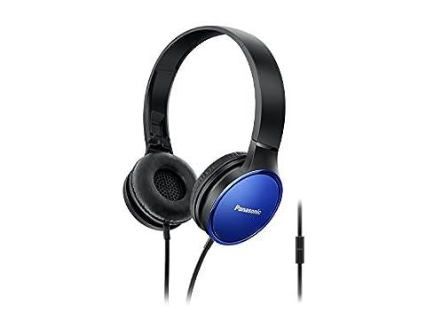 'Panasonic rp-hf300e-a Kopfhörer Binaurale schwarz 3,5mm Kopfhörer Binaurale ((1/8) Diadem Schwarz Blau kabelgebunden