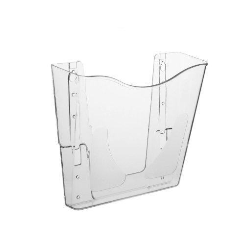 DIN A4 Wandprospekthalter / Dokumentenhalter im Hochformat, transparent