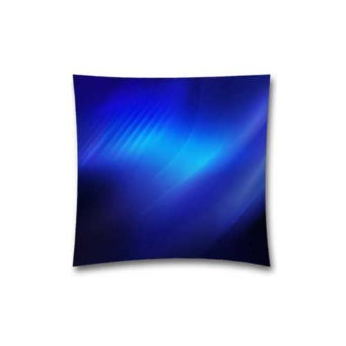 Abstract Blue Light Pattern Throw Pillow Cushion Covers for Bed Sofa and Couch 18x18 Inch (45x45 Cm) by AM Kingdom