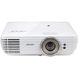 Acer Home V7850 - Proyector, 2200 lúmenes ANSI, DLP, 2160p (3840x2160), 1,3 - 9,3 m, 4:3, 16:9, color blanco