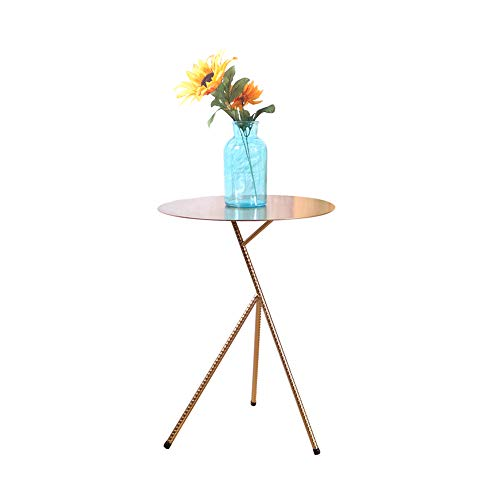 Klapptisch YANFEI Einfache Moderne  Schmiedeeisen Tee Tabellen Beistelltisch Goldenes Wohnzimmer Sofa