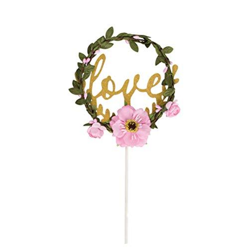 Kjlkljhgfjh Girlande Cupcake Toppers Picks Dekorative Liebe Kuchen Topper für Hochzeit Home Party Decor Weihnachten Party Supplies Gefälligkeiten (Color : -, Size : -)