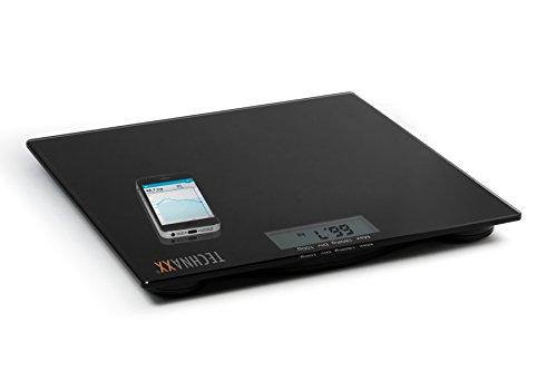 Technaxx Fitness Waage TX-41 mit Bluetooth und APP, Schwarz, 4452