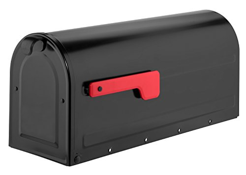Mb1lettere, post mount mailbox in nero