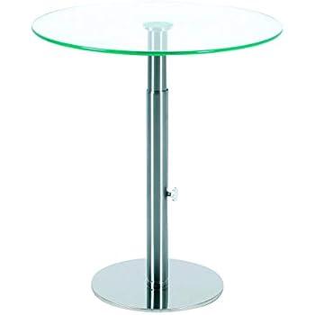 Concept Glas (86) Glastisch rund, höhenverstellbar