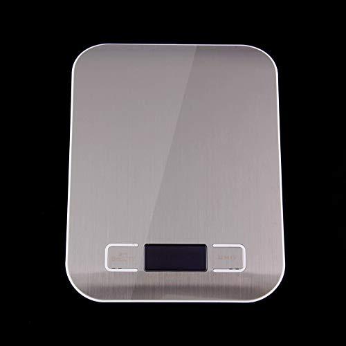 whbage Küchenwaage Edelstahl 1lb X 0,05 Unzen LCD Digitale Küche Skala 5kg X 1g Gewicht Lebensmittel Diät automatische Abschaltung Küche Skala