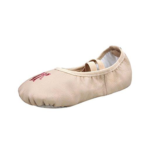 Zhuhaitf Professionale Adult Children Soft Flat Dance Shoes Fashion Canvas Yoga Gymnastics Ballets Shoes Nude