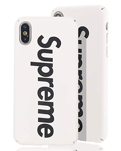 SUP PC Case [ Passend für Apple iPhone X/XS - 10, Weiß ] Supreme Design Schutzhülle - Feinmatte Hartschale - Ultra-Slim Cover (Case Supreme)