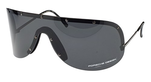 Unbekannt Porsche Design P '8479D Heritage Collection Sonnenbrille, Dunkel Grau, Grau Objektiv, Medium/Large Fit