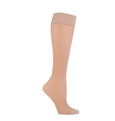 NEW- 1 Pair Sockshop 40 Denier Compression DVT Flight and Travel Socks 4-7 uk (Natural)