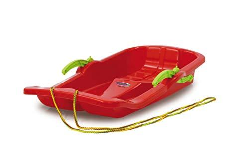 Jamara- 460364-snow play bob karol con freni 80cm rosso - costruzione aereodinamica e robusta, sedile confortevole ed ergonomico, direzionabile slittino, colore rot, 460364