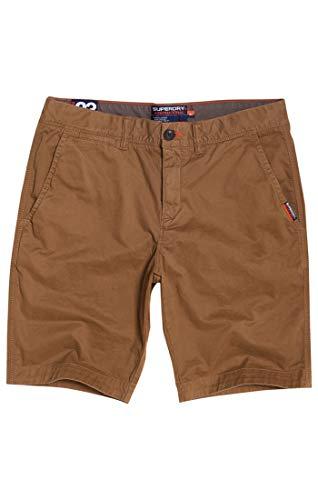 Superdry Herren INTERNATIONAL Slim Chino LITE Shorts Marrone (Brze Khaki Vd4), 46 (Herstellergröße:33)