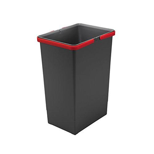 ELLETIPI Abdeckung Box Eimer mit Griff für Mülltonnen Ecofil H44, grau