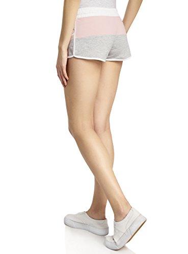 oodji Ultra Damen Kombinierte Jersey-Shorts Mehrfarbig (2040B)
