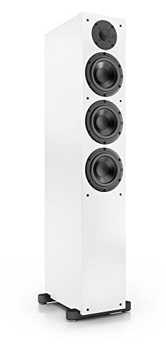 Nubert nuBox 513 Standlautsprecher 2-Wege (3X 15,0 cm Tieftöner, 2,5 cm Hochtöner, 240/320 Watt, 36-22000 Hz), Stück, Weiß/Weiß