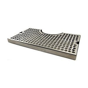 1 X 12 Surface Mount Kegerator Beer Drip Tray Stainless Steel Tower Cut Out No Drain by KegWorks
