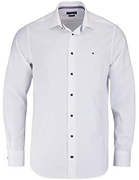 TOMMY TAILORED Hemd extra langer Arm New Kent Kragen Twill weiß AL 70