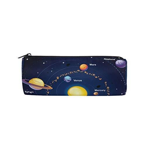 Outer Space Solar System Stifteetui Schule Stiftehalter Kinder Trommel Große Kapazität Tasche...