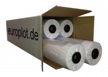 (0,20€/m²) Plotterpapier ungestrichen, 4 Rollen | 90g/m², 841mm b, 90m l