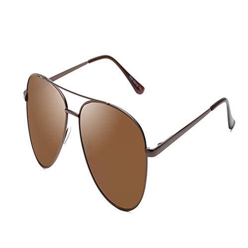 YDOMY 2019 Neue Sonnenbrillen Herrenbrillen Sonnenbrillen Flut Menschen Polarisierten Spiegel Fahren Spezielle Fahrer Flut Großes Gesicht Braunes Feld Tee Farbfilm Fahren