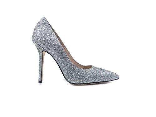 Liu Jo SXX123 Marilyn Decollete' Donna in Pelle Glitter Silver Silver, 39 MainApps