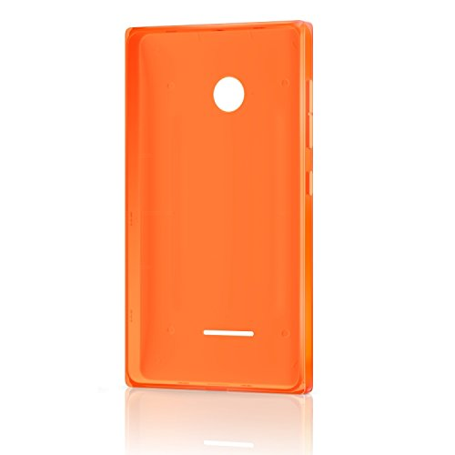 Microsoft Lumia Clip-On Shell Hülle Case Cover für Microsoft Lumia 435 - Orange (Microsoft Power Cover)